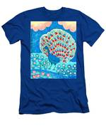 Peacock And Lily Pond Men's T-Shirt (Athletic Fit)