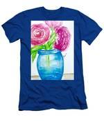 Peonies Mason Jar Men's T-Shirt (Athletic Fit)