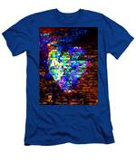 Rainbow Heart On A Wall Men's T-Shirt (Athletic Fit)
