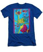 The Happy Fishes Men's T-Shirt (Athletic Fit)