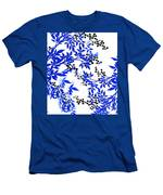 Toile Blue And White Tree Men's T-Shirt (Athletic Fit)