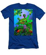 Turtle Trampoline Men's T-Shirt (Athletic Fit)