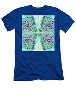 Wild Island Creation 1 Fractal B Men's T-Shirt (Athletic Fit)