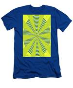 Yellow Cactus Spines Abstract Men's T-Shirt (Athletic Fit)