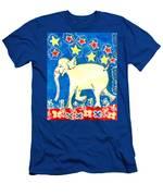 Yellow Elephant Facing Left Men's T-Shirt (Athletic Fit)