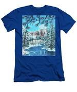Yosemite In Winter Men's T-Shirt (Athletic Fit)