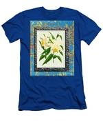 Orchid Framed On Weathered Plank And Rusty Metal Men's T-Shirt (Athletic Fit)