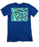 Leaves And Curves Art Nouveau Style II Men's T-Shirt (Athletic Fit)