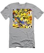 Abstract Curvy 34 Men's T-Shirt (Athletic Fit)