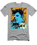 Flowers For The King Of Rock And Roll Men's T-Shirt (Athletic Fit)