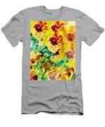 Hibiscus Impressionist Men's T-Shirt (Athletic Fit)