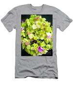 Hortensia With Touch Of Pink Men's T-Shirt (Athletic Fit)