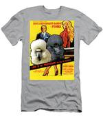 Poodle Standard Art - Love Is My Profession Movie Poster Men's T-Shirt (Athletic Fit)