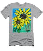 Sunflowers For Fun Men's T-Shirt (Athletic Fit)