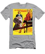 Weimaraner Art Canvas Print - Love Is My Profession Movie Poster Men's T-Shirt (Athletic Fit)