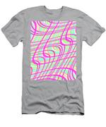 Swirly Check Men's T-Shirt (Athletic Fit)