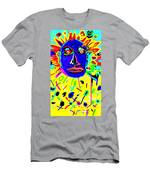 Zulu Yellow- Turquoise Men's T-Shirt (Athletic Fit)