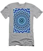 Abstract Blue 25 Men's T-Shirt (Athletic Fit)