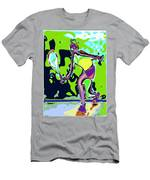 Abstract Female Tennis Player 2 Men's T-Shirt (Athletic Fit)