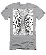 Black And White Symmetry   Men's T-Shirt (Athletic Fit)