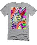 Close Up In The Garden Brightly Men's T-Shirt (Athletic Fit)