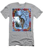 Doe In The Snow Men's T-Shirt (Athletic Fit)