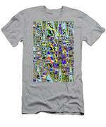 More Colors Abstract Men's T-Shirt (Athletic Fit)