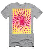 Moveonart Neon Twist 1 Men's T-Shirt (Athletic Fit)