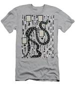 Moveonart Raw Swan On A Walk Men's T-Shirt (Athletic Fit)