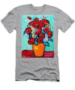 Poppies And Daisies Bouquet Men's T-Shirt (Athletic Fit)