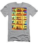 Sewing Machines Come To Life Men's T-Shirt (Athletic Fit)