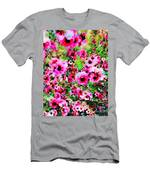 Tea Tree Garden Flowers Men's T-Shirt (Athletic Fit)