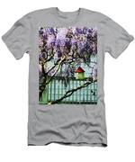 Wisteria And Birdhouse Men's T-Shirt (Athletic Fit)