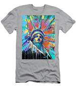 Liberty In Color Men's T-Shirt (Athletic Fit)