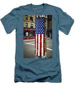 American Flag Tiles Men's T-Shirt (Athletic Fit)