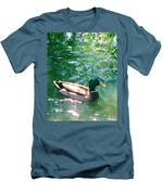 Duck On Green Pond Men's T-Shirt (Athletic Fit)