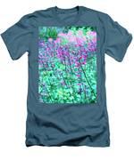 Lavender Color Flowers Men's T-Shirt (Athletic Fit)