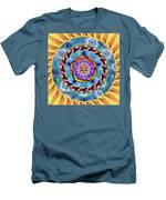 Mandala Wormhole 101 Men's T-Shirt (Athletic Fit)