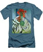 Still Life With Seagulls Poppies And Strawberries Men's T-Shirt (Athletic Fit)