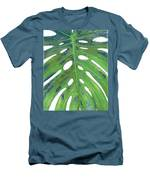 Tropical Leaf With Blue II Men's T-Shirt (Athletic Fit)