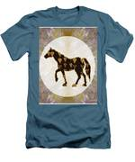 Horse Prancing Abstract Graphic Filled Cartoon Humor Faces Download Option For Personal Commercial  Men's T-Shirt (Athletic Fit)