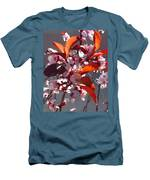 Backlit Pink Tree Blossoms Men's T-Shirt (Athletic Fit)