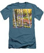 Birches 02 Men's T-Shirt (Athletic Fit)