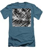 Micro Linear Black And White Men's T-Shirt (Athletic Fit)