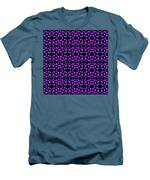 Purple Dots Pattern On Black Men's T-Shirt (Athletic Fit)