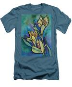 Stained Glass Flowers Men's T-Shirt (Athletic Fit)