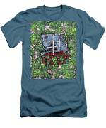 Window Flower Box Men's T-Shirt (Athletic Fit)