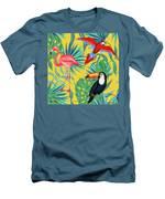 Yellow Tropic  Men's T-Shirt (Athletic Fit)