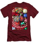 Basketful Of Christmas Ornaments Men's T-Shirt (Athletic Fit)