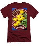 Basket Full Of Tulips Men's T-Shirt (Athletic Fit)